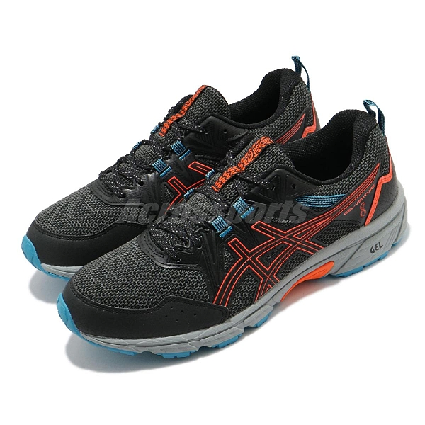 Asics 越野跑鞋 Gel-Venture 8 黑 橘 藍 戶外 野跑 亞瑟士 男鞋【ACS】 1011A824005