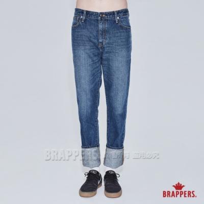 BRAPPERS 男款 HM中腰系列-全棉直筒褲-深藍