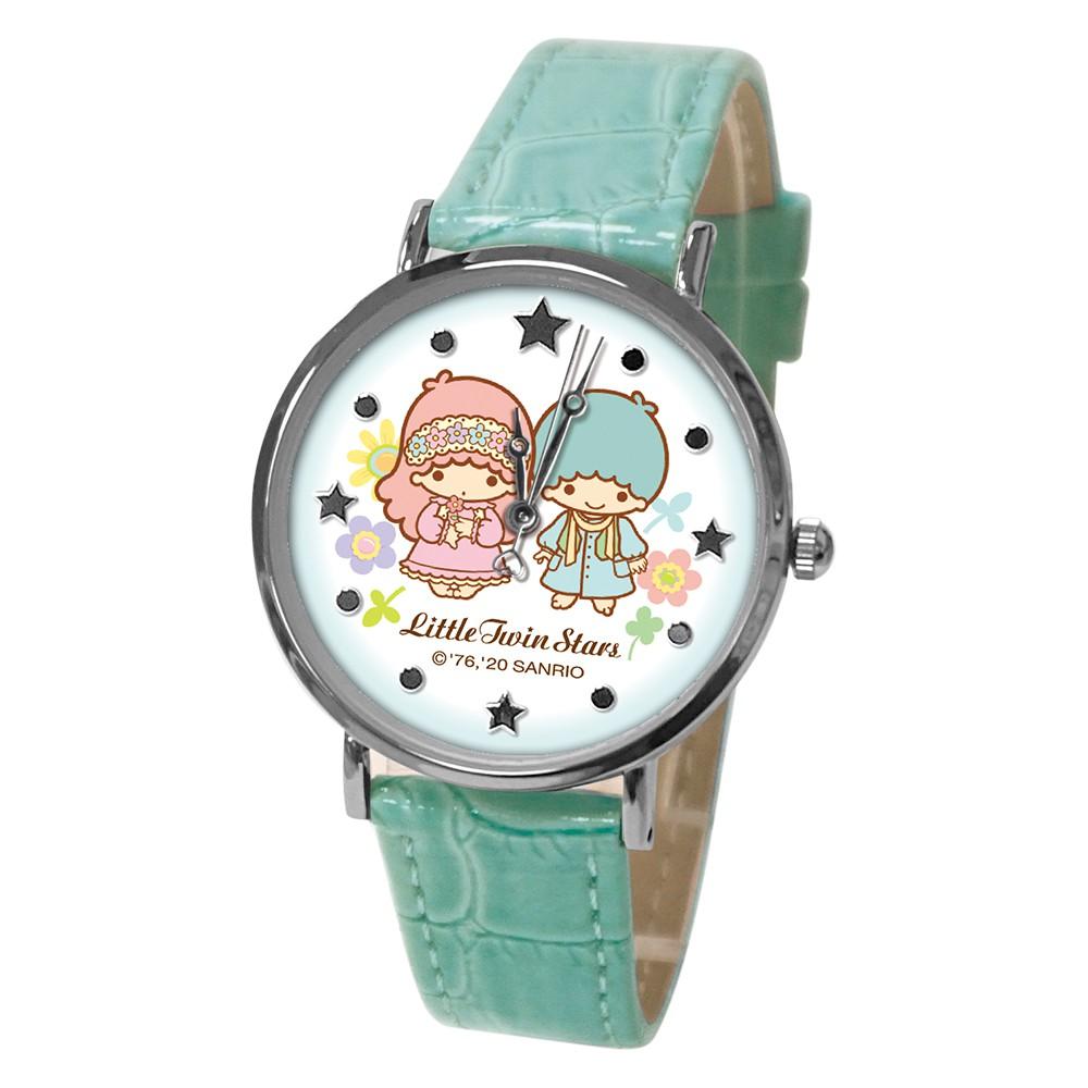 【三麗鷗】雙星相伴甜心皮帶手錶_Tiffany綠