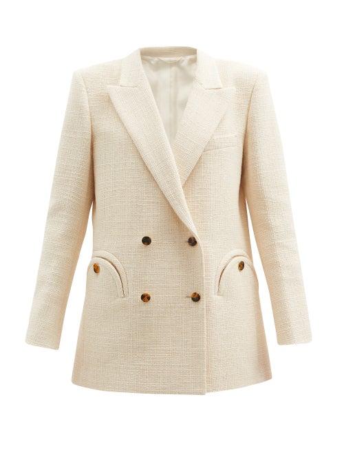 Blazé Milano - Missy Everynight Cotton-blend Bouclé Jacket - Womens - Cream