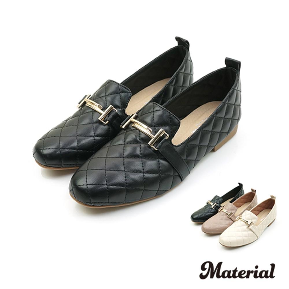 樂福鞋 菱格壓紋樂福鞋 T3249