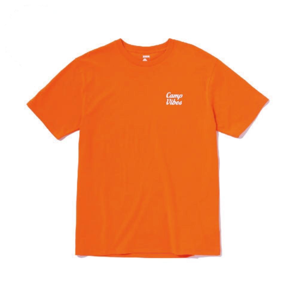 日本限定POLER - CAMP VIBES TEE 休閒短袖上衣 / 橘色