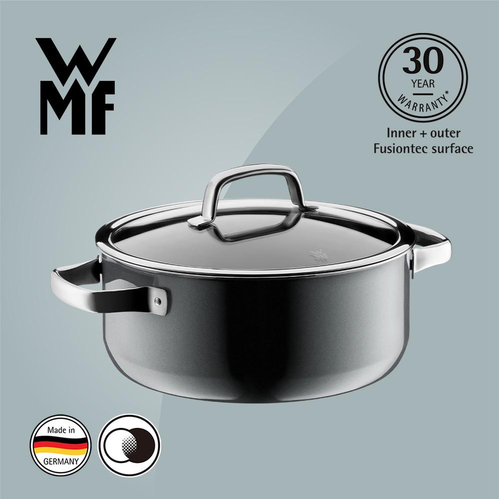 【德國WMF】WMF Fusiontec 低身湯鍋 24cm 4.4L 鉑灰色 (福利品)