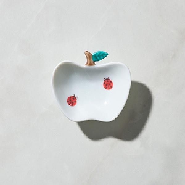 【有種創意】日本晴九谷燒 - 蘋果小盤 - 瓢蟲