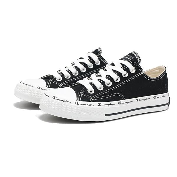 CHAMPION 黑 串字LOGO 帆布鞋 黑低 抗臭鞋墊 情侶鞋 男女 (布魯克林) USLS101311