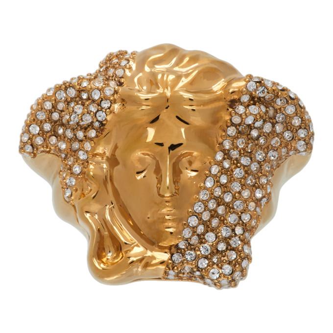 Versace 金色 Palazzo Dia Crystal 戒指