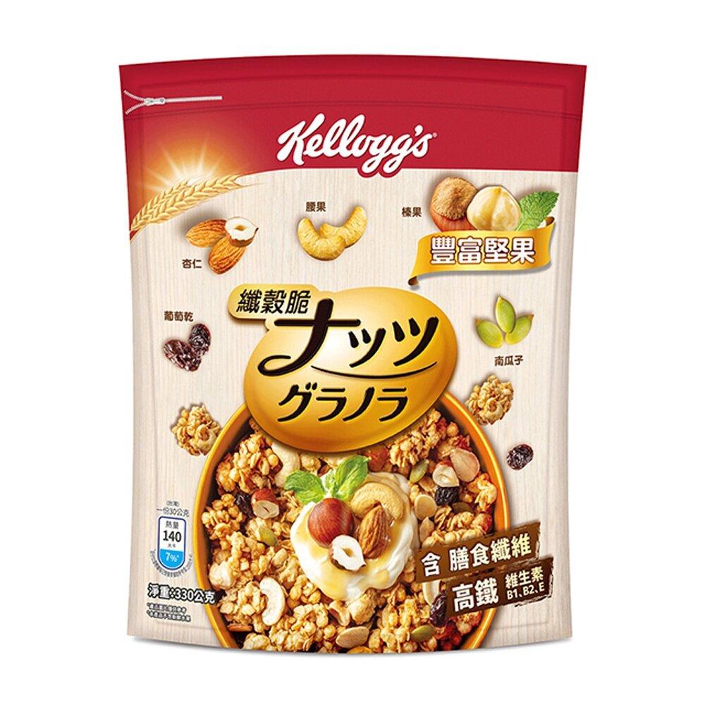 (任選)Kellogg's 家樂氏 纖穀脆-豐富堅果 330g