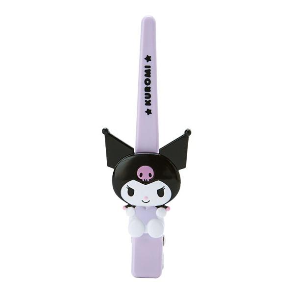 小禮堂 酷洛米 造型塑膠長髮夾 鴨嘴夾 瀏海夾 馬尾夾 大髮夾 (紫 玩偶) 4550337-34897