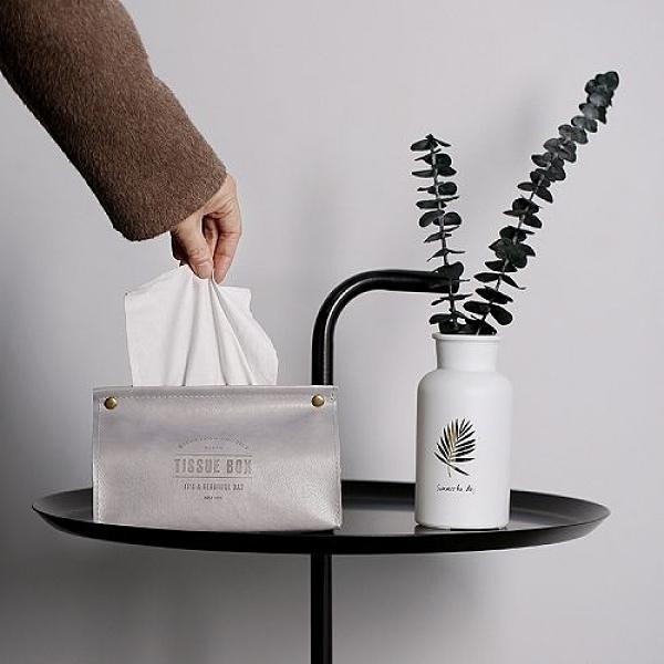 北歐ins風皮革紙巾盒 創意家居紙巾套 (顏色隨機出貨)