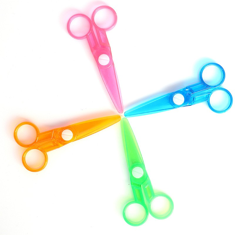 WENJIE 【B719】兒童安全剪刀 兒童剪刀 塑膠剪刀 剪紙 pp材質 塑料安全剪刀