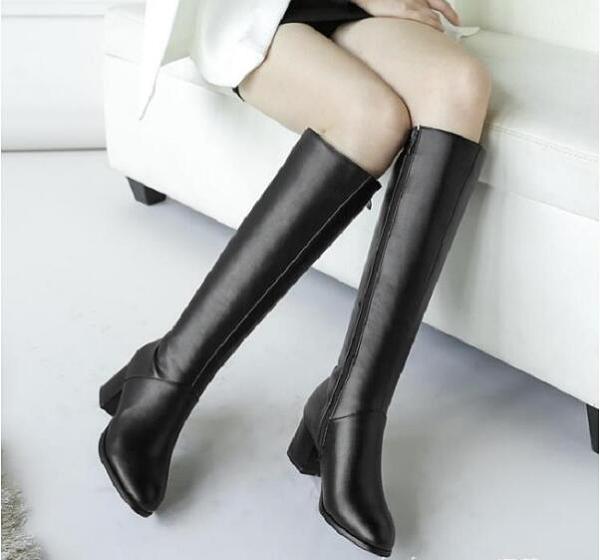 【清倉半價】靴子女冬季女鞋馬靴女士中長靴高跟長筒靴粗跟高筒靴秋冬