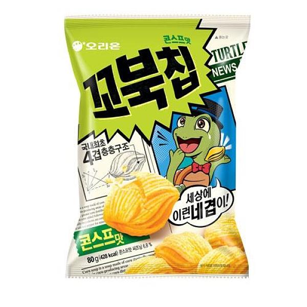 好麗友烏龜玉米脆片80g【愛買】