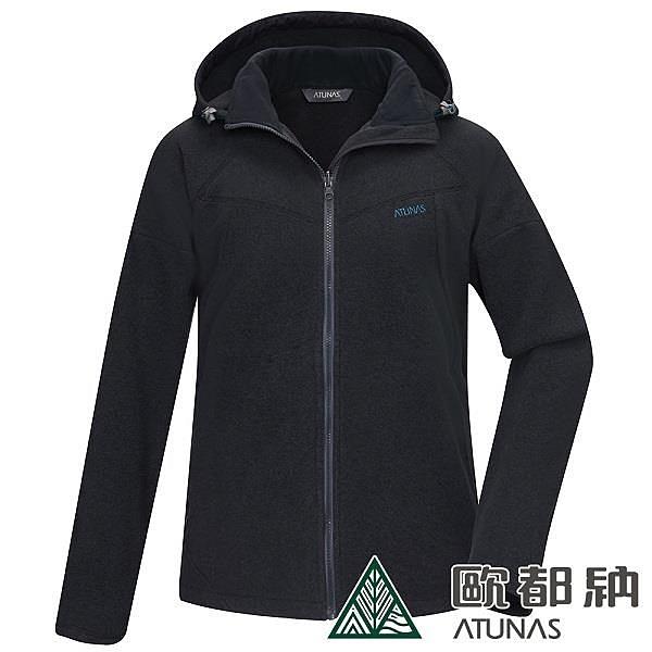【南紡購物中心】【歐都納】男款PRIMALOFT刷毛保暖外套/刷毛外套(黑)