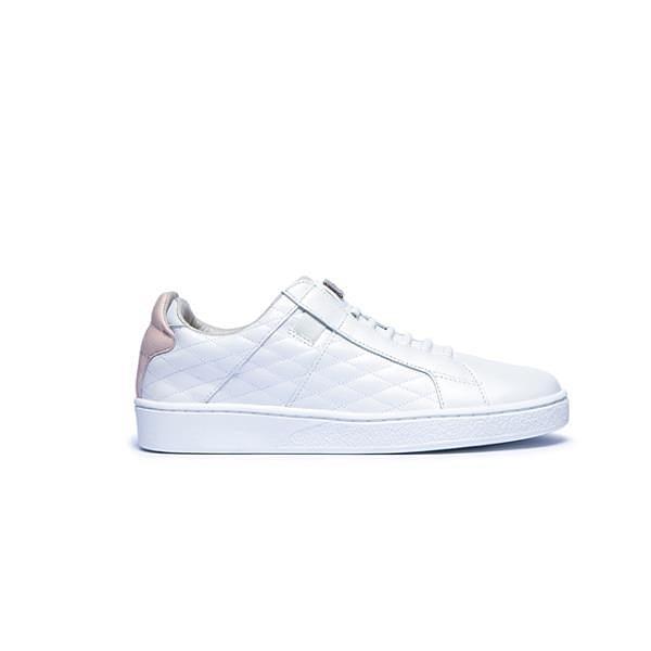 【南紡購物中心】【Royal Elastics】Icon SBI 粉白真皮時尚休閒鞋 (女) 92502-016
