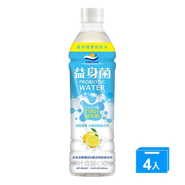 OKINA益身菌水500ML*4【愛買】