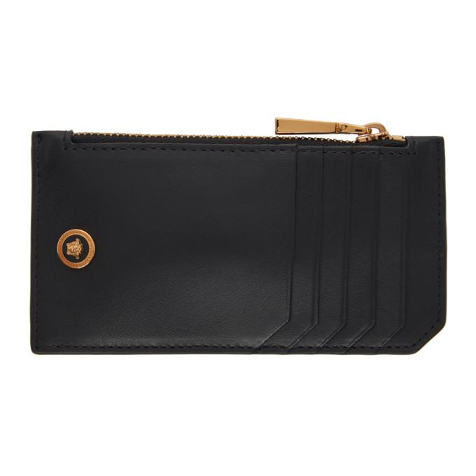 Versace 黑色小号 Medusa 拉链卡包