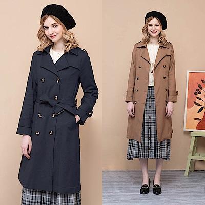 【CUMAR】長版雙排釦風衣-外套(三色/版型適中/魅力商品)
