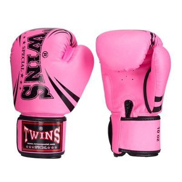 『VENUM旗艦館』12oz TWINS 泰國超纖維皮革拳套 輕量化 入門拳套 泰拳 拳擊手套 BGVS-DM31-粉色