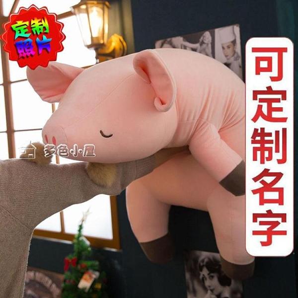 毛絨抱枕娃娃玩具粉趴趴豬大號公仔可愛布娃娃抱枕豬玩偶生日禮物女生便宜YXS 快速出貨