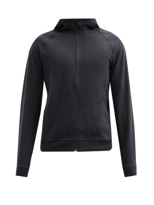 Lululemon - City Sweat Zip-through Jersey Hooded Sweatshirt - Mens - Black