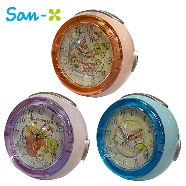 【日本正版】角落生物 LED音樂鬧鐘 造型鐘 指針時鐘 鬧鐘 夜燈功能 角落小夥伴 889331 889348 889355