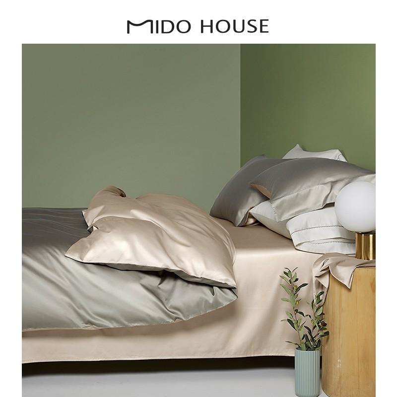 現貨100支全棉純棉輕奢床品三件套床單床笠被套冬磨毛貢緞床上四件套