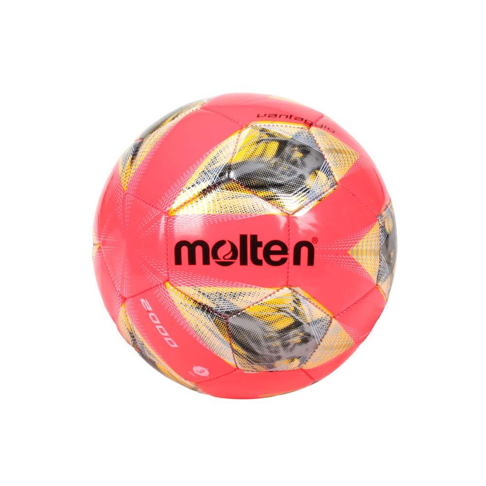 MOLTEN #3合成皮足球-3號球 訓練 螢光粉黃銀 F