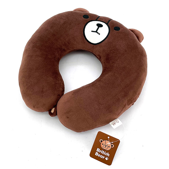 免運 英國熊 造型頸枕 TA-D18N