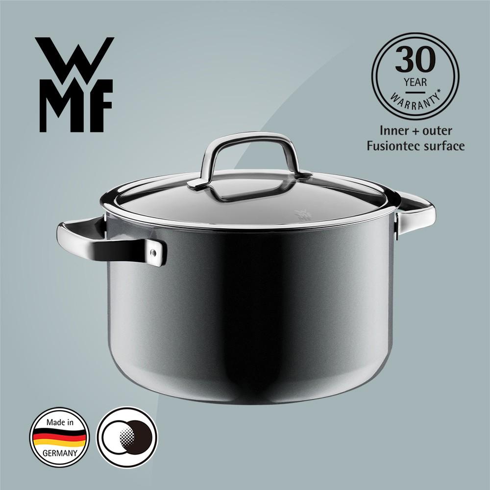 【德國WMF】WMF FUSIONTEC 高身湯鍋 24CM 6.4L 鉑灰色 (福利品)