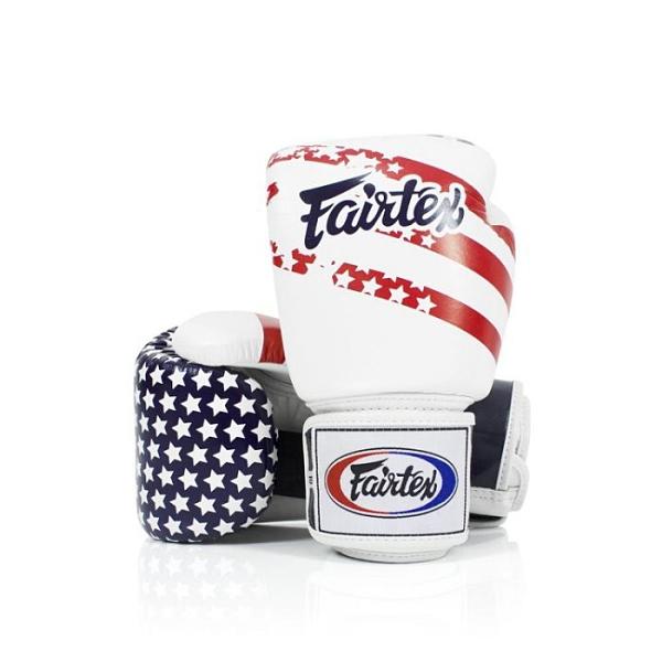 『VENUM旗艦館』10oz Fairtex 健身房真皮拳擊手套~重擊打沙袋拳套~ BGV1 國旗 - 美國USA