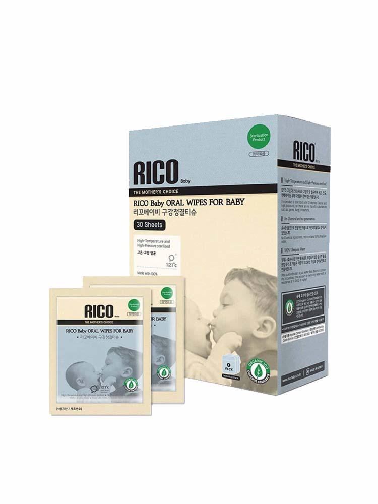 韓國 RICO BABY 嬰兒潔牙濕紙巾(30入)