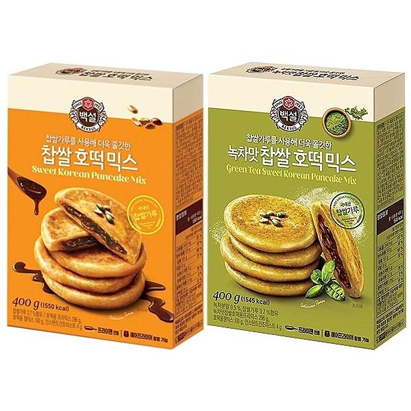 韓國 CJ DIY糯米糖餅粉(400g) 黑糖/抹茶口味 款式可選【小三美日】