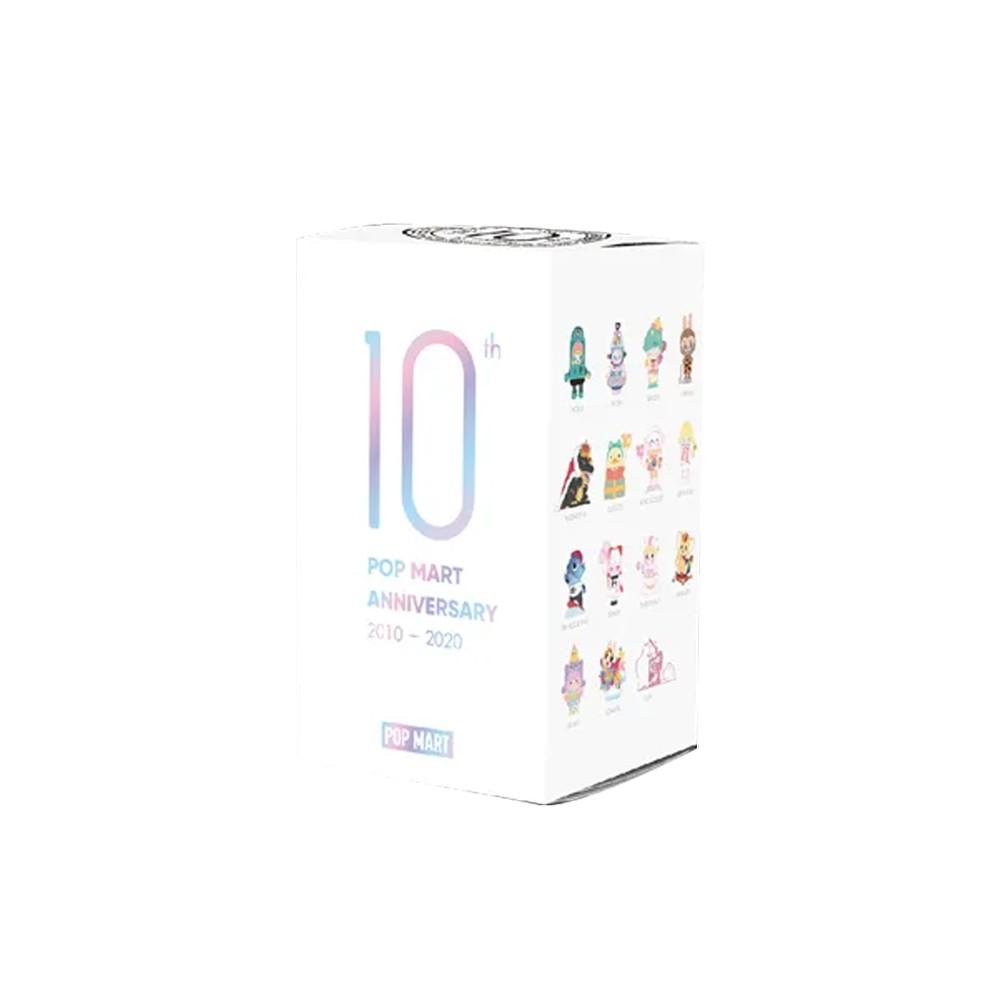 泡泡瑪特10周年限定公仔盒玩(單入隨機款)+PANDA熊貓系列公仔盒玩(8入盒裝)
