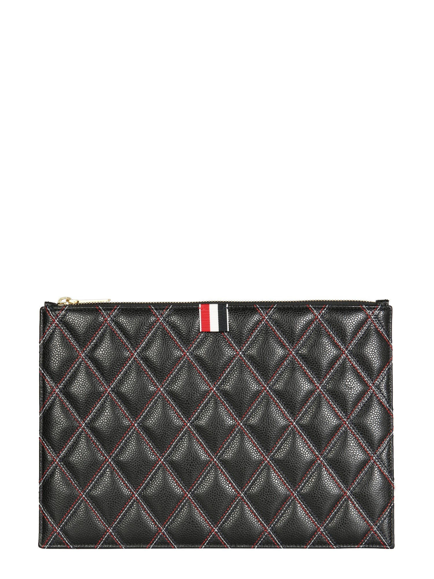thom browne small document holder with logo