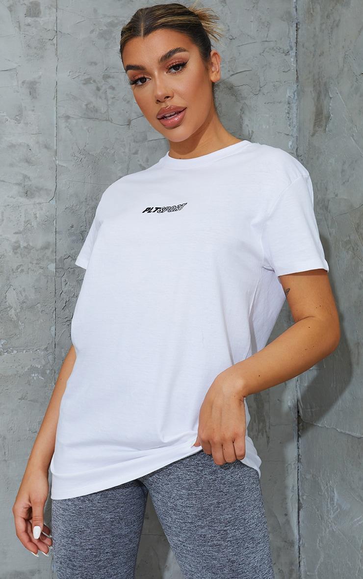 White Oversized Sports Tshirt