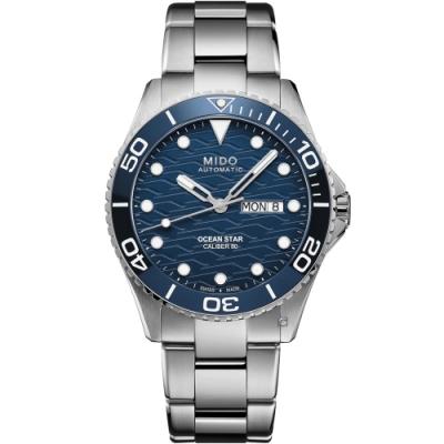 MIDO 美度 Ocean Star 200C海洋之星 廣告款陶瓷潛水錶(M0424301104100)-42.5mm