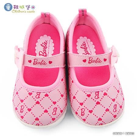 童鞋城堡-寶寶繫帶學步鞋 芭比 BR7805-粉