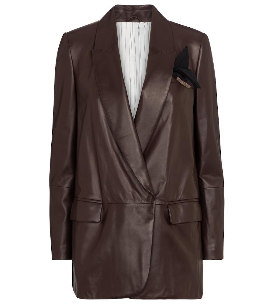Nappa leather blazer