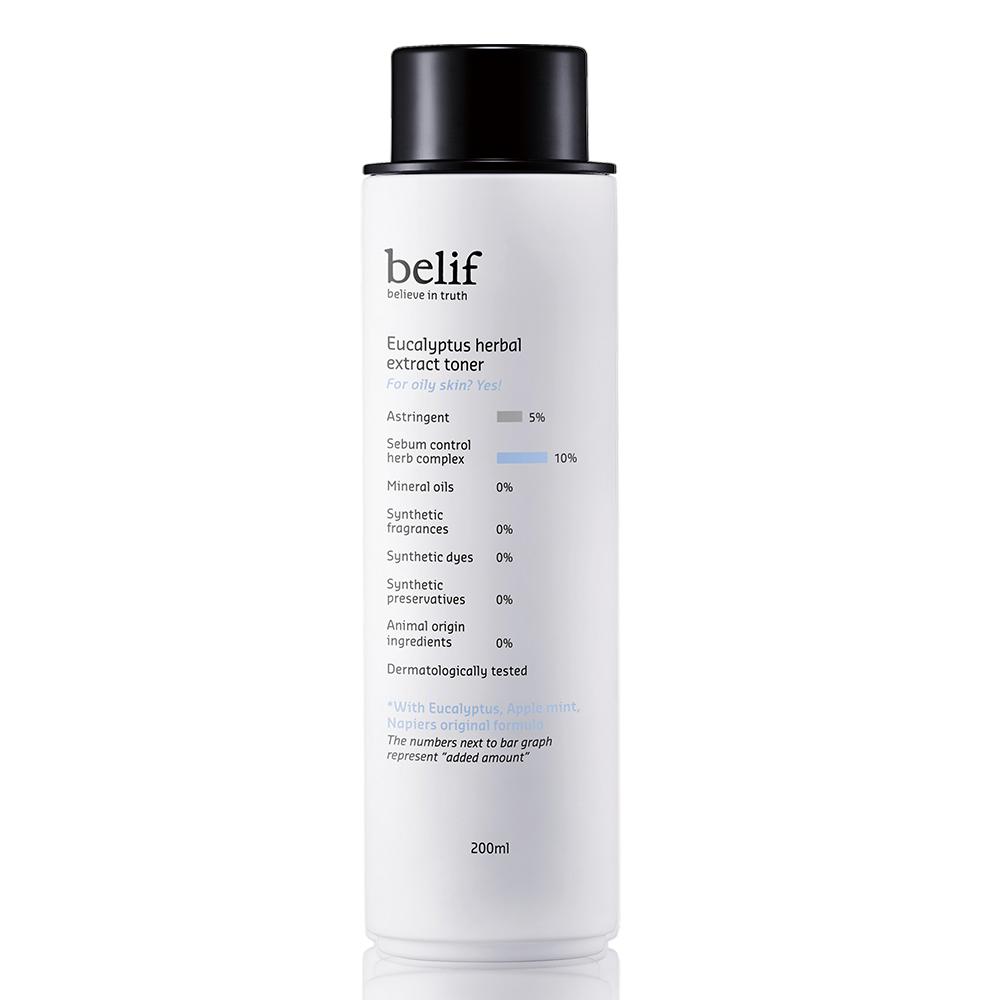 belif 尤加利清爽控油化妝水 200ml(油性肌膚適用)