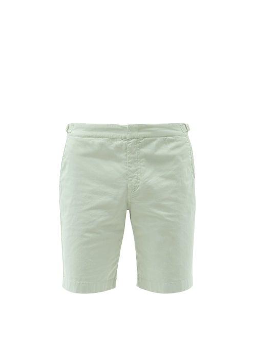 Orlebar Brown - Dane Ii Cotton-blend Twill Shorts - Mens - Beige