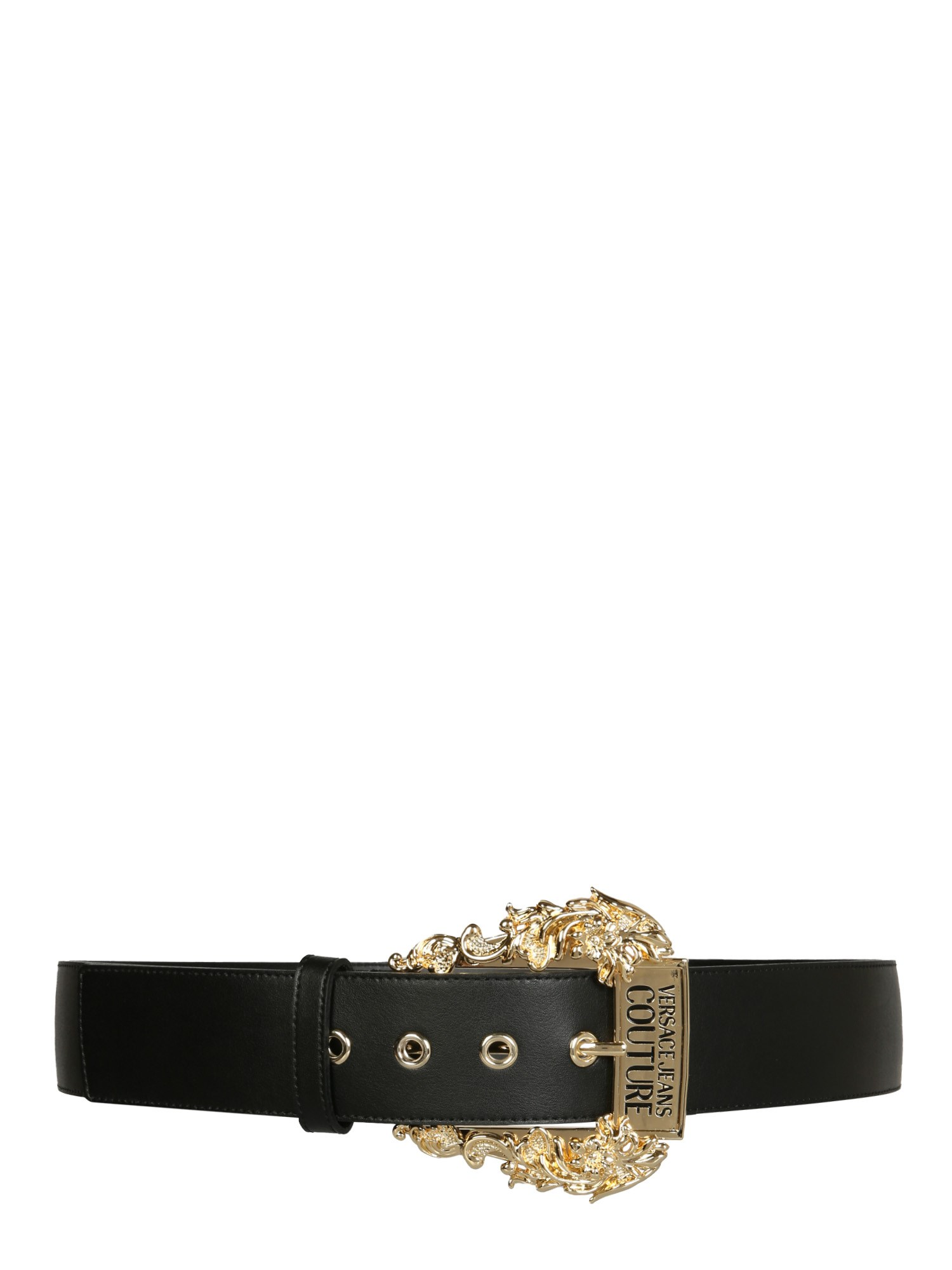 versace jeans couture belt with baroque buckle