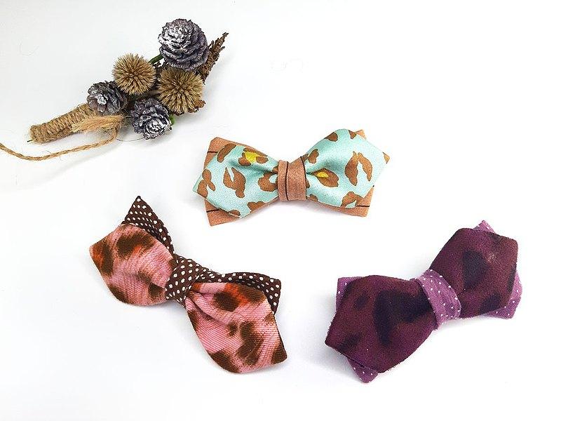 福袋-我要豹豹系列-雙色領結+雙色領帶(任選2入)