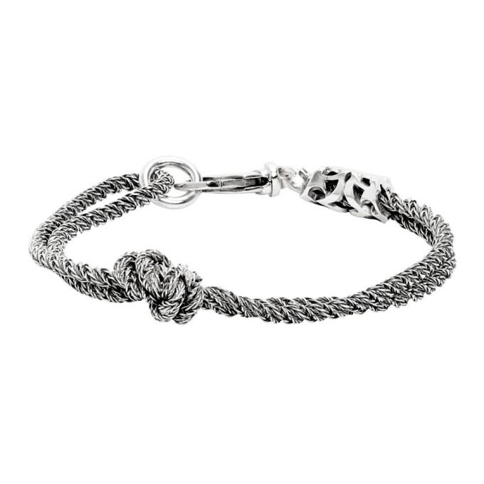 Emanuele Bicocchi 银色 Double Knot 手链