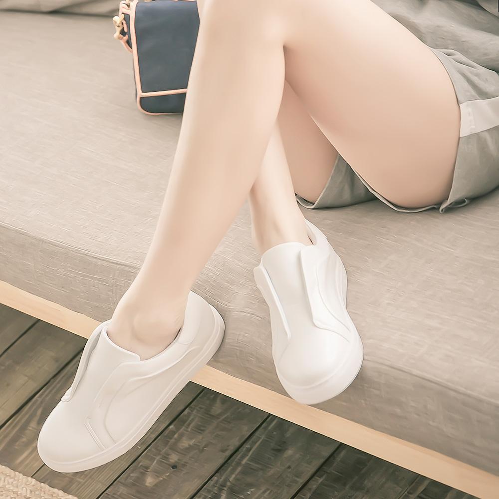 懶女孩經典基本休閒鞋 白 G219WT (版型偏小)