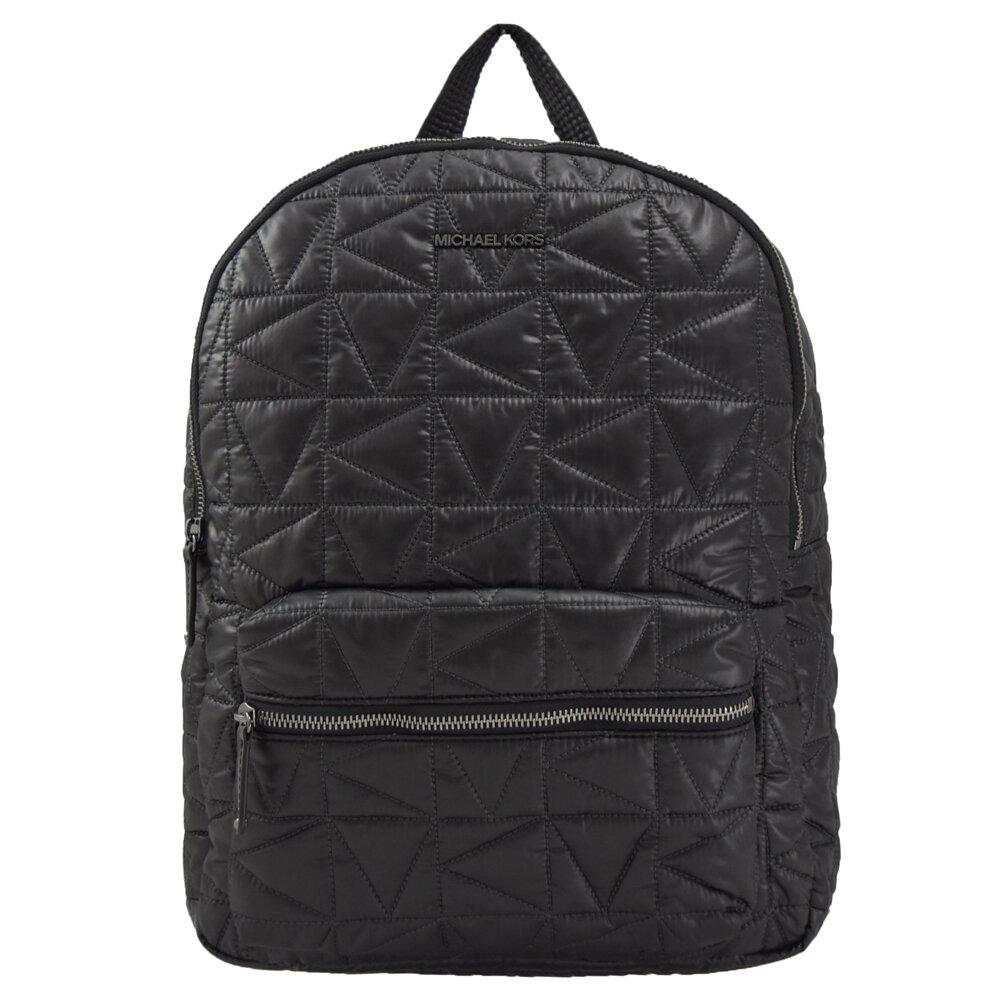 MICHAEL KORS 專櫃商品 WINNIE 浮雕LOGO尼龍雙肩後背包.黑 大