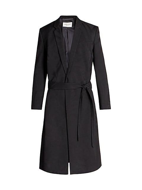 Jacquard Wool Trench Coat