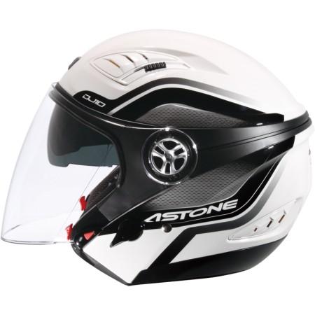 ASTONE DJ10C-OO07 白黑 內墨鏡 透氣 吸濕排汗 全可拆洗 3/4罩 安全帽《淘帽屋》