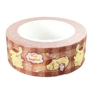 布丁狗 紙膠帶 裝飾膠帶 膠布 禮物包裝 15mmx10m (棕 格紋)