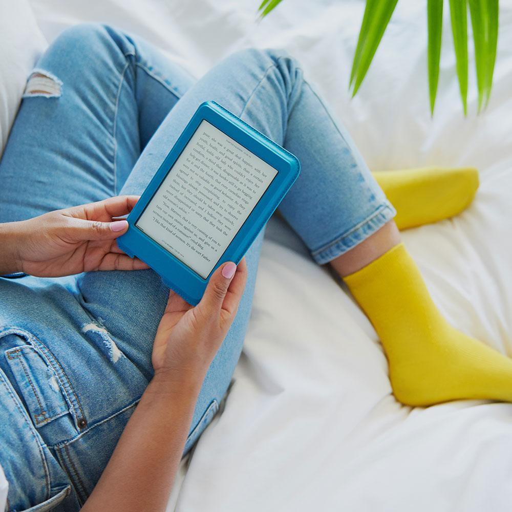 樂天 Kobo Nia Sleep Cover 6 吋磁感應保護殼 - 湖水藍