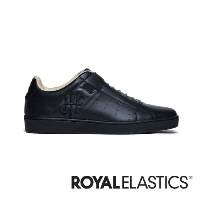 ROYAL ELASTICS Icon Genesis 黑色真皮運動休閒鞋 (男) 01901-998